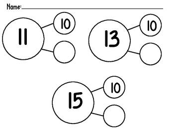 Teen Number Practice Number Bonds
