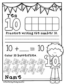 Teen Number Practice Pages