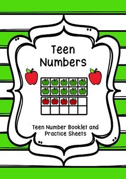 Teen Number Practice Worksheets - UK spelling