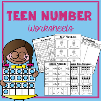 Teen Number Worksheets- K.NBT.1