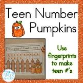 Teen Number Pumpkins