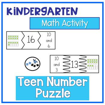 Teen Number Puzzle: Eureka Math Module 5 Topic B