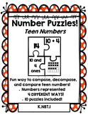 Number Puzzles: Compose and Decompose Teen Numbers - Math Dollar Deals