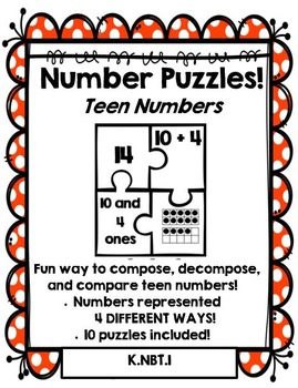 Number Puzzles: Compose and Decompose Teen Numbers