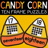 Teen Number Sense Center Puzzles Fall Activity for Kinderg