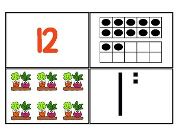 Teen Number Puzzles - Garden Themed