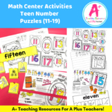 Teen Number Puzzles {Numbers 1-19}
