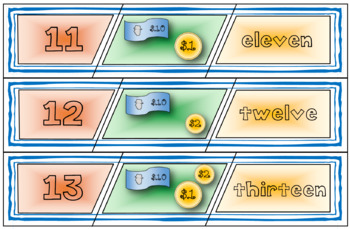 Teen Number Puzzles / Representing Teen Numbers / Number Sense Place Value