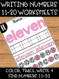 Teen Number Worksheets: Writing, Spelling & Recognizing Nu