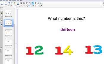 Teen Number Recognition/Identification