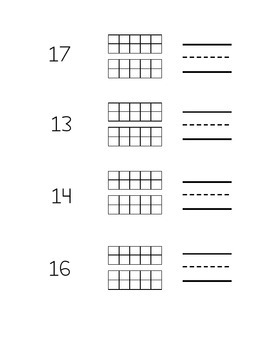 Teen Number Review Pages