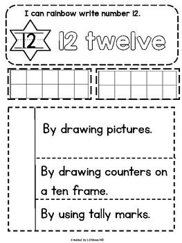 Teen Number Sense Interactive Notebook Fun