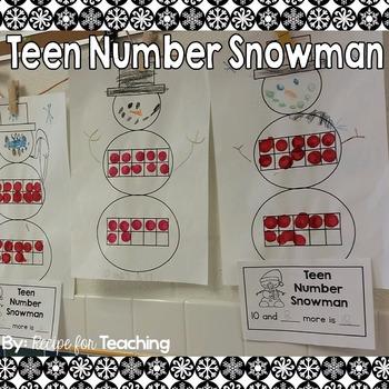 Teen Number Snowman