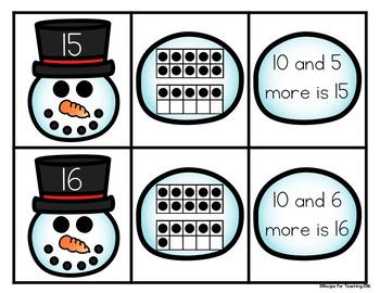 Teen Number Snowmen
