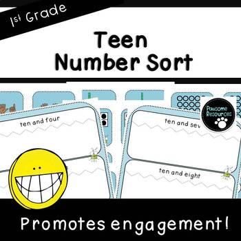 Teen Number Sort (First Grade, 1.NBT.2)