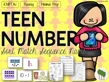 Teen Number Sort - Match - Sequence  - Name - Fluency