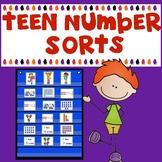 Teen Number Sorts (Numbers 11-19)