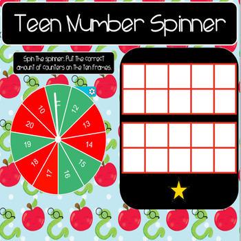 Teen Number Spinner (Smart Board)