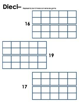 Teen Number Stamping-Spanish/English