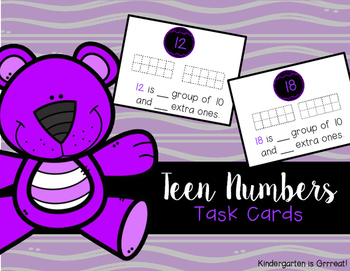Teen Number - Task Cards