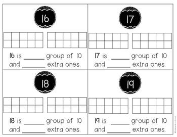 Teen Number - Task Cards