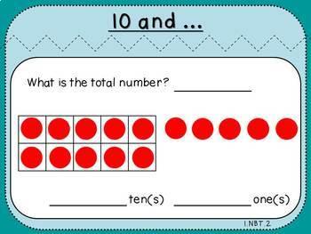 Teen Number-Teacher Slides (First Grade, 1.NBT.2)