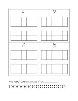Teen Number Ten Frame Practice