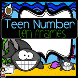 Teen Number Ten Frame Sharks (SMART Board)