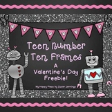 Teen Number Ten Frames: A Valentine's Day Freebie!