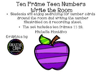 Teen Number Ten Frames Write the Room