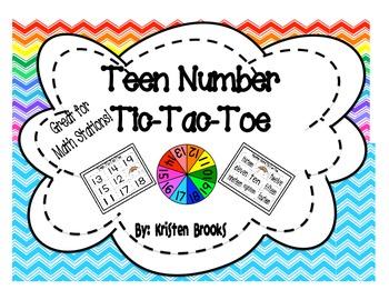 Teen Number Tic-Tac-Toe