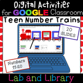 Teen Number Trains for Google Classroom: Ten Frames and Ex