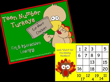 Teen Number Turkeys