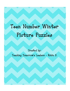 Teen Number Winter Picture Puzzles