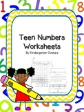 Teen Number Worksheets  11 to 19