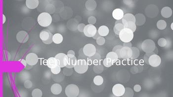 Teen Number Writing Practice