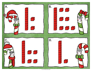 Number Sense Activity Candy Cane Teen Numbers 10-19