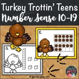 Number Sense Activity Turkey Trottin' Teen Numbers 10-19