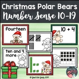 Number Sense Activity Teen Numbers 10-19 Christmas Polar Bears