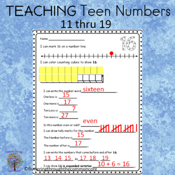 Numbers 10-20  practice worksheets