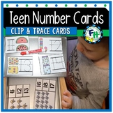 Teen Numbers (11-19) Clip & Trace Cards