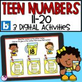Teen Numbers   Number Sense   Numbers 11-20   BOOM Cards™