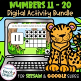 Teen Numbers 11-20 Digital for Google and Seesaw BUNDLE