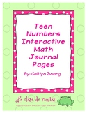 Teen Numbers (15-20) Interactive Math Journal Pages