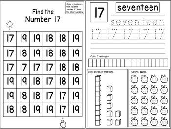 Teen Numbers Kindergarten | Teen Numbers Activities | Teen Numbers Worksheets