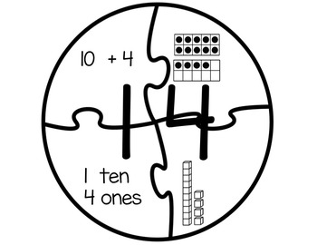 Teen Numbers (base ten resources, activities, and printables)