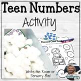 Teen Numbers Activity | Write the Room or Sensory Bin