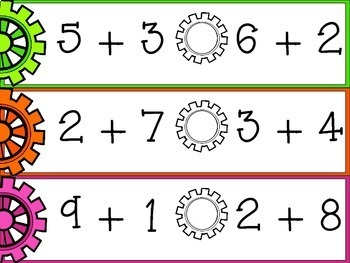 Addition, Subtraction and Teen Numbers Math Centers