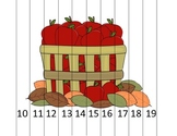 Teen Numbers Apple Barrel Math Puzzle