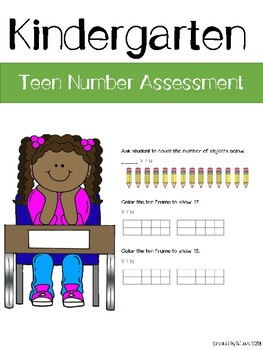 Teen Numbers Assessment
